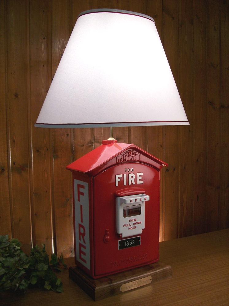 Firemen Gifts Gamewell Firebox Lamps Presentation Awards